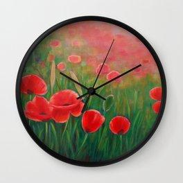 Poppy Meadow Wall Clock