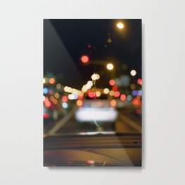 Car in the night. Metal Print