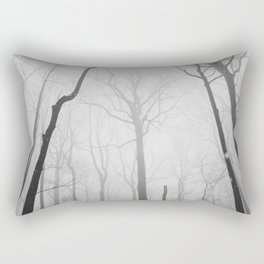 Snowy Morning in the Woods Rectangular Pillow