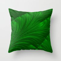 renaissance Throw Pillows featuring Renaissance Green by Charma Rose