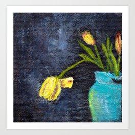 Vase and Flowers Art Print