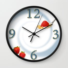 Strawberry and Cereal - Round Wall Clock Wall Clock