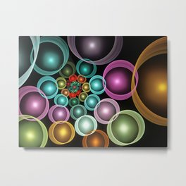 gaudy bubbles Metal Print