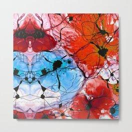 Red Flower Art - Wild Flowers - Sharon Cummings Metal Print