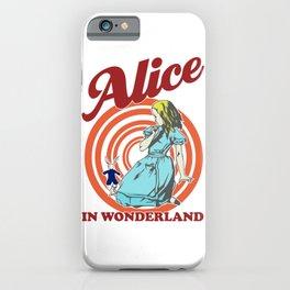 Alice In Wonderland, Follow The White Rabbit T Shirt, Original Gift Idea iPhone Case