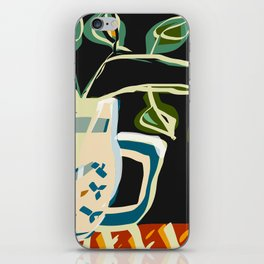 Still life with a pitcher and leaves iPhone Skin