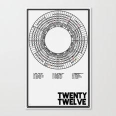 Twenty Twelve Calendar Canvas Print