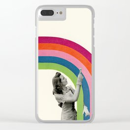 Paint a Rainbow Clear iPhone Case