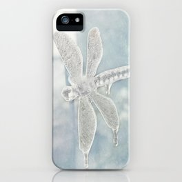 Iced Dragonfly iPhone Case