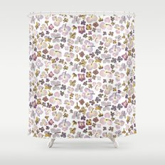 Scattered Hydrangea Shower Curtain