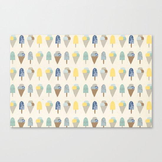ice cream pattern  Canvas Print