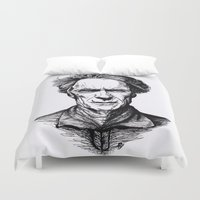 clint eastwood Duvet Covers featuring Clint Eastwood by Oriane Mlr