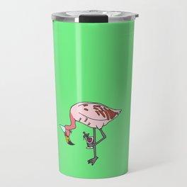 Flamingo with shrimp cocktail Travel Mug