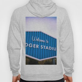 Welcome to Dodger Stadium | Los Angeles California Nostalgic Iconic Sign Sunset Art Print Tapestry Hoody