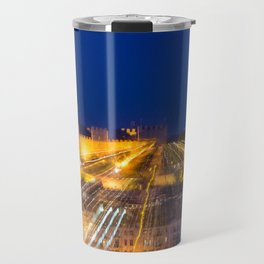 Abstract Lisbon - Castle View Travel Mug