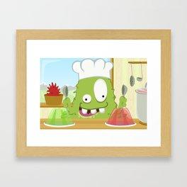 Monster BRAINY from Monster serie Framed Art Print