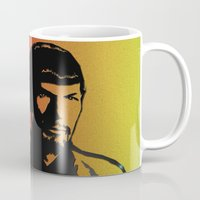 spock Mugs featuring Spock by SVA🌺