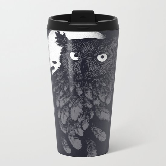 Vanishing in the night II Metal Travel Mug