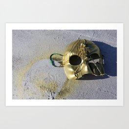 Gold Skeleton Mask, No. 1 Art Print