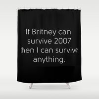 britney spears Shower Curtains featuring Britney Spears by Jarrah James