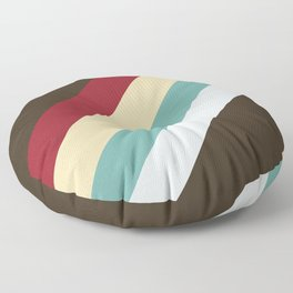 Nanna - Classic Abstract Minimal Retro Style Stripes Floor Pillow