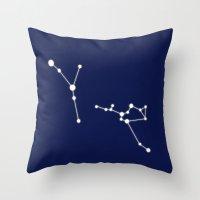 zodiac Throw Pillows featuring Zodiac by My Studio