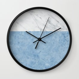 Porcelain blue and white marble Wall Clock