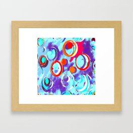 Circles of Many Colors Framed Art Print
