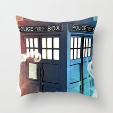 The Police Box Throw Pillow