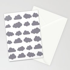 Grey clouds winter time art Stationery Cards