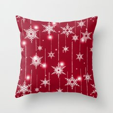 Bright Christmas background. Throw Pillow