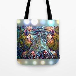 Whimsical Hippo Tote Bag