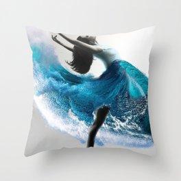Wave Dance Throw Pillow