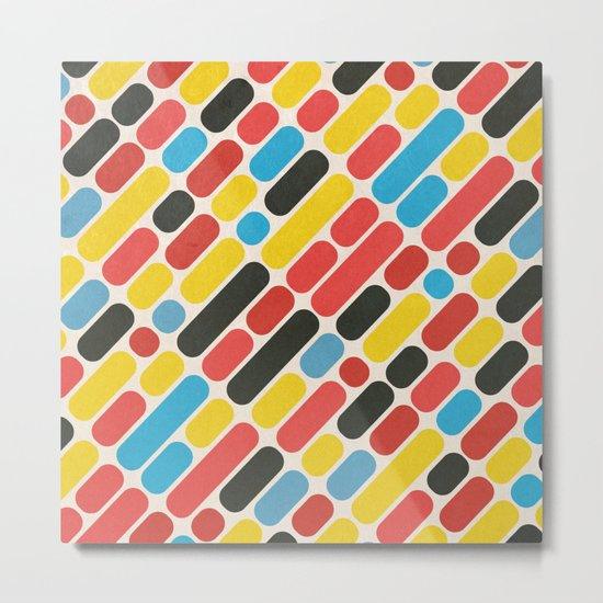 Colorful Trend Pattern Metal Print