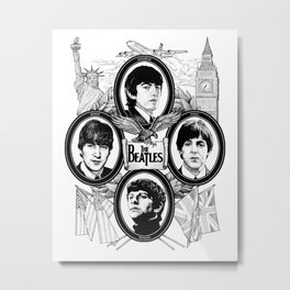 British Invasion Metal Print