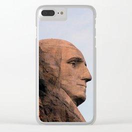 George Washington (Mount Rushmore) Clear iPhone Case