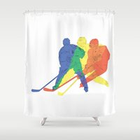 hockey Shower Curtains featuring Hockey by preview
