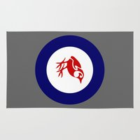maori Area & Throw Rugs featuring Rockwren Air Force Roundel by mailboxdisco