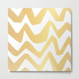 Golden Lines Metal Print