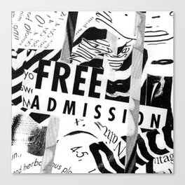 Free Admission Canvas Print