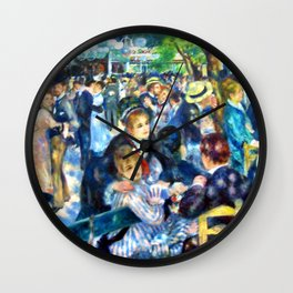 Renoir's Dance at Le Moulin de la Galette Wall Clock