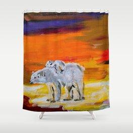 Polar Bears Surviving Shower Curtain