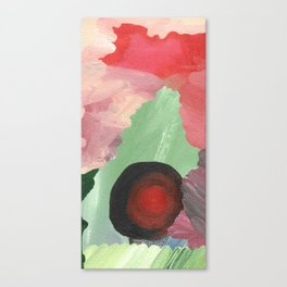 Birth - beautiful velocity, a green and red abstract Canvas Print