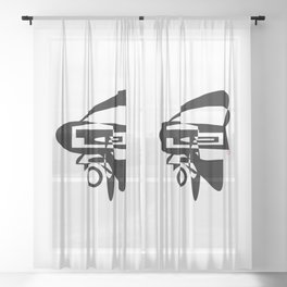 Museum OF Abstraction - Edt. 7 Sheer Curtain