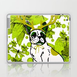 PUG POINSETTIA AND DRAGONFLIES Laptop & iPad Skin