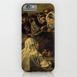 "Francisco Goya ""El Gran Cabrón o Aquelarre (The Great He-Goat or Witches Sabbath)"" iPhone Case"