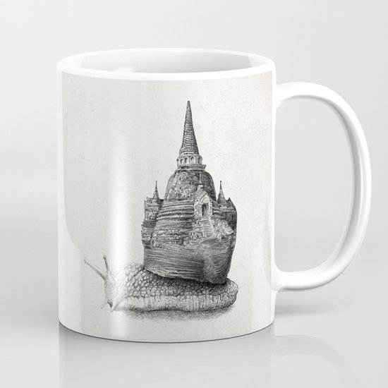 The Snail's Dream (monochrome option) Mug