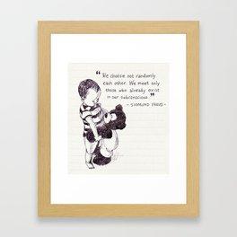 """""""We Choose Not Only Each Other Randomly"""" Sigmund Freud Framed Art Print"""