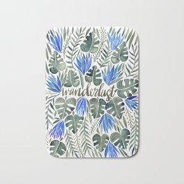 Tropical Wanderlust – Periwinkle Bath Mat