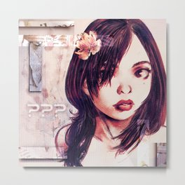 Unknown Girl Metal Print